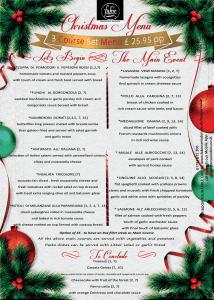 Fabios Christmas Menu 2018